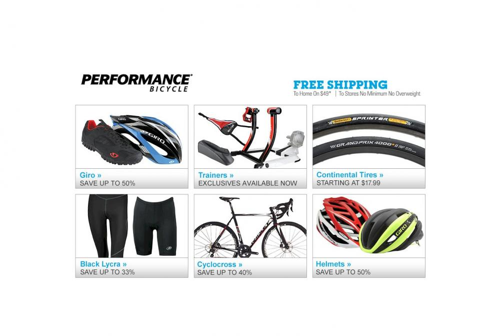 Performance Bicycle brings you the best prices, best selection and best brands for bikes, cycling apparel, cycling equipment and much more. Lifetime Guarantee & Low Price Promise.